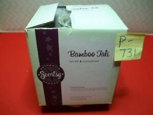 """BRAND NEW COLLECTIBLE AUTHENTIC SCENTSY WICKLESS WAX WARMER """"BAMBOO TALI"""" RET?"""