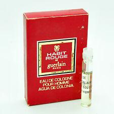 Vintage Guerlain Habit Rouge 1ml Eau de Cologne vial 40 year old