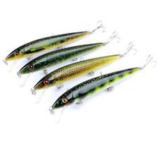 4PCS Fishing Lure Hard Crankbaits Hooks Minnow Baits Bass 14g Tackle
