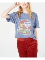 True Vintage Cotton California Graphic T-Shirt (Blue, L)