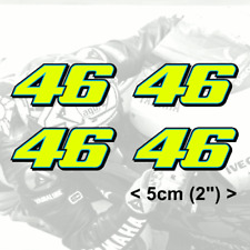 "Rossi Sticker Number 46 FLUORESCENT YELLOW vinyl (2013)  4 x 5cm 2"" stickers"