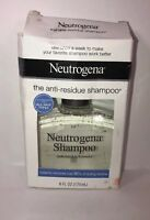 NEUTROGENA ANTI RESIDUE SHAMPOO FOR ALL HAIR TYPES 6 Oz Removes Dulling Residue