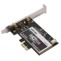 WIRCARD pour Intel 9260NGW WR-9200 Bureau PC 1700Mbps 2.4G/5G BT5.0 Carte S T1C1