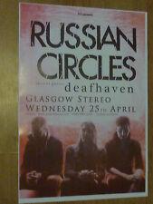 Russian Circles + Deafhaven - Glasgow april 2012 show tour concert gig poster