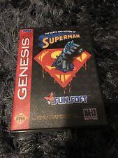 The Death and Return Superman SEGA Mega Drive USA - Custom Game - Grade AAA+++