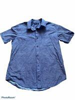 banana republic mens soft wash short sleeve button down shirt size medium