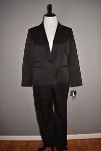 LE SUIT NEW $200 2 PC Blazer & Pants in Black Tonal Stripe Size 18