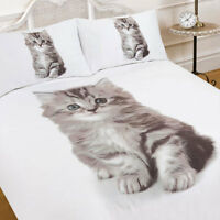 3d CHAT CHATON imprimé animalier couette Housse de couette avec taie d'oreiller