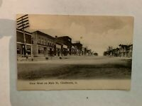 Vintage circa 1915 View West Main Street Gladbrook Iowa Postcard