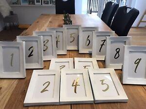 Bilderrahmen Hochzeit Deko Tischnummern