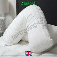**Special Offer** New Goose Feather Down V Shaped Pillow + Free Pillow Case