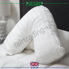 Goose Feather Down V Shaped Pillow Nursing Pregnancy Neck Shoulder Back Support