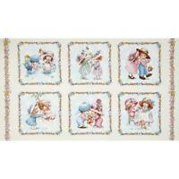 Sunbonnet Emma and Friends Cream Cotton Quilting Fabric Panel