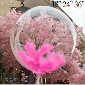 """BOBO Balloon Crystal clear 18"""" 24"""" 36"""" Transparent Wedding New Year Party UK"""