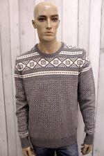 WOOLRICH Uomo Taglia XL Maglione Cashmere Sweater Pullover Maglietta Pull Maglia