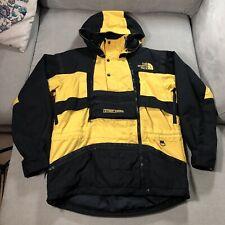Mens Vintage Rare THE NORTH FACE STEEP TECH Ski Jacket Coat Yellow/Black Medium