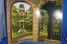 Barbie Diorama Vintage Repro College Campus Backdrop ~ Free U.S Ship
