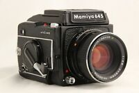 【 EXC+5 】 MAMIYA M645 1000S + SEKOR C 80mm f/2.8 + Waist Level Finder from JAPAN