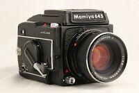 【 EXC+5 】 MAMIYA M645 1000S + SEKOR C 80mm f/2.8 + Waist Level Finder from JAPAN