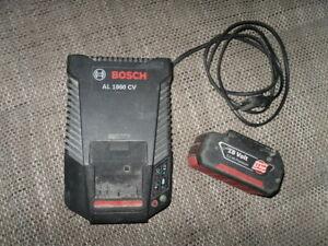 Bosch AL 1860 CV Akkuladegerät +Li-Ionen Akku 18 V 3,0 Ah !! Ansehen lohnt !!