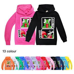 Kids Unspeakable Gamer Youtuber Hoodie Hooded Top Girls Boys Tee Sweatshirt