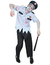 Adult Mens Zombie Police Officer Cop Dress Halloween Costume Outfit XL