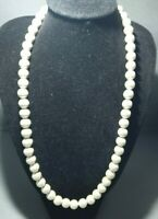 Cultured magnetic pearl necklace  elegant barrel clasp (pain relief)