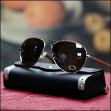 New Mens Fashion Aviator Sunglasses Cop Pilot UV 400 Metal Unisex Gold