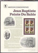 #2249 22c Jean  Du Sable USPS #277 Commemorative  Panel