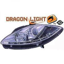 Scheinwerfer Set für Seat Leon 2004-2009 Klarglas/Chrom LED Dragon Lights
