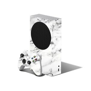 MARBLE White Skin for XBOX SERIES S Console Controller Wrap Decals Cover Sticker