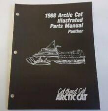 1988 Arctic Cat Panther Snowmobile Parts Manual Book