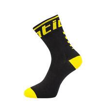 Santic Cycling Socks Outdoor Antibacterial Sport Socks One Size Yellow Blcak