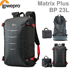Lowepro Matrix+ BP 23L Backpack Camera Bag Black/Mineral Red & Black/Grey Colors