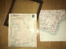 The Autocar Sectional Vintage Road Maps Of England With Leather Case