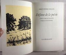 SHELLEY Défense de la Poésie + Suite 1980 Fouad-El-Etr & Gérard Barthélémy SIGNÉ