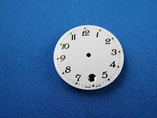 Blank Wrist Watch Dial Part -White- 26.5mm -Swiss Made- Date at 6 -Numbers  #310