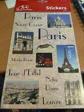 1 SHEET STICKER PARIS 23X15 CM NEW