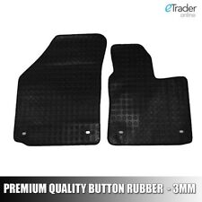 VW Caddy Mat Set - 2 Front Rubber Mats to fit Volkswagen Caddy Van 05-15 Quality