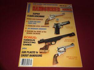 1983 Annual AMERICAN HANDGUNNER Magazine VTG Ruger, Air Pistols, Catalog Section