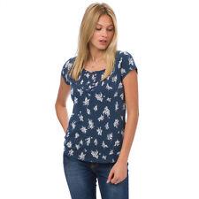 Animal NEW Ayita navy blue graphic floral print t shirt top BNWT £28 sizes 8-16