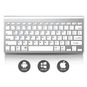 Silver Wireless MINI Mouse and Keyboard Boxed Set for iMac Windows Sj