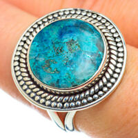 Chrysocolla In Quartz 925 Sterling Silver Ring Size 8.25 Ana Co Jewelry R50553F
