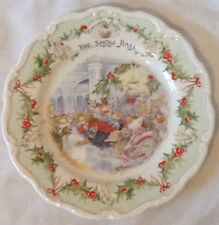 �Rare Htf Royal Doulton Brambly Hedge The Snow Ball Plate ~ Collector Item Mint�