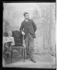 "Vintage 4""X5"" GLASS NEGATIVE Springwater N.Y. 1904-20 Photographer O-87"