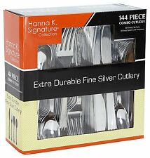 Silver Plastic Silverware Cutlery Wedding Disposable Forks Spoon Knives Flatware