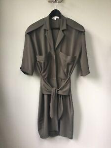Gorgeous Ladies REISS Khaki Dress With Pocket Detail, UK Size 6, Very Good Condi