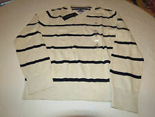 Mens Tommy Hilfiger long sleeve sweater shirt Pima XL 7880581 Creme Brulee 266