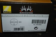 Nikon Buckmasters II 3-9x50mm Matte Rifle Scope BDC Reticle NIB 16419