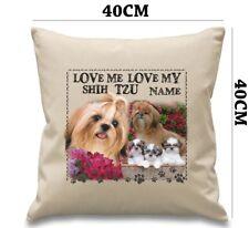 Personalised SHIH TZU Dog Puppy Cushion Cover Her Love Gift Birthday